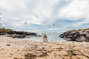 Dove release. Photo by Moorea Thill.